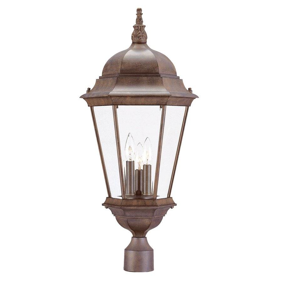 Acclaim Lighting Richmond 27-in H Burled Walnut Post Light