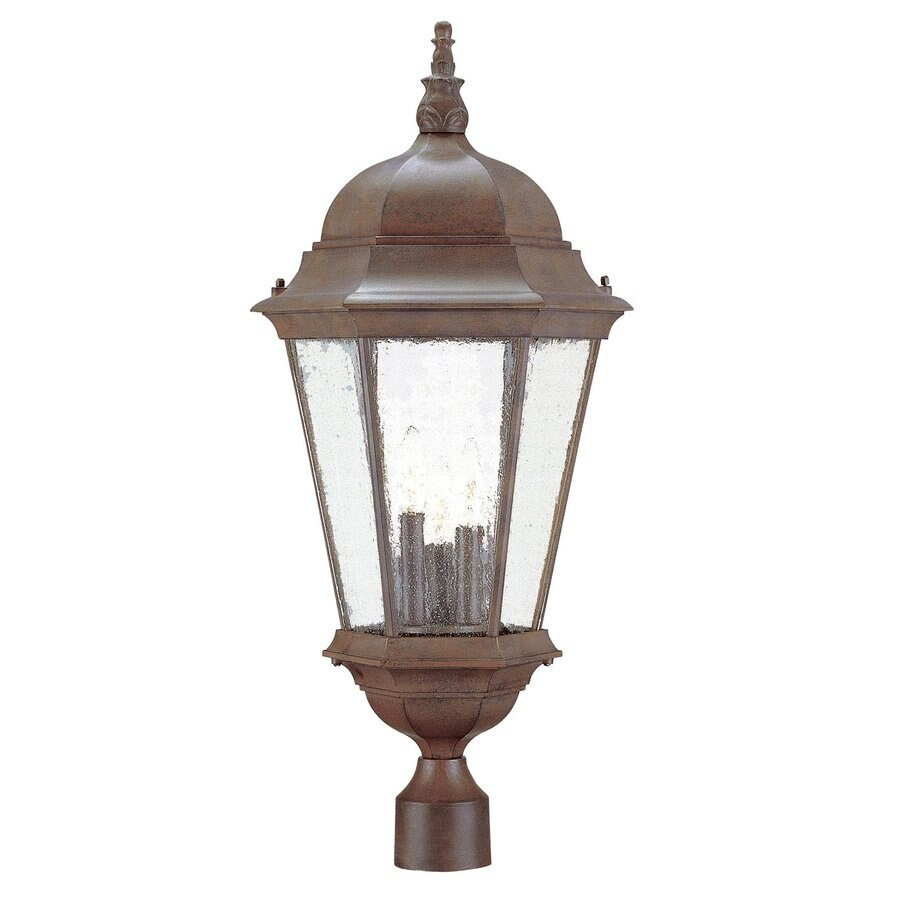 Shop Acclaim Lighting Richmond 27-in H Burled Walnut Post