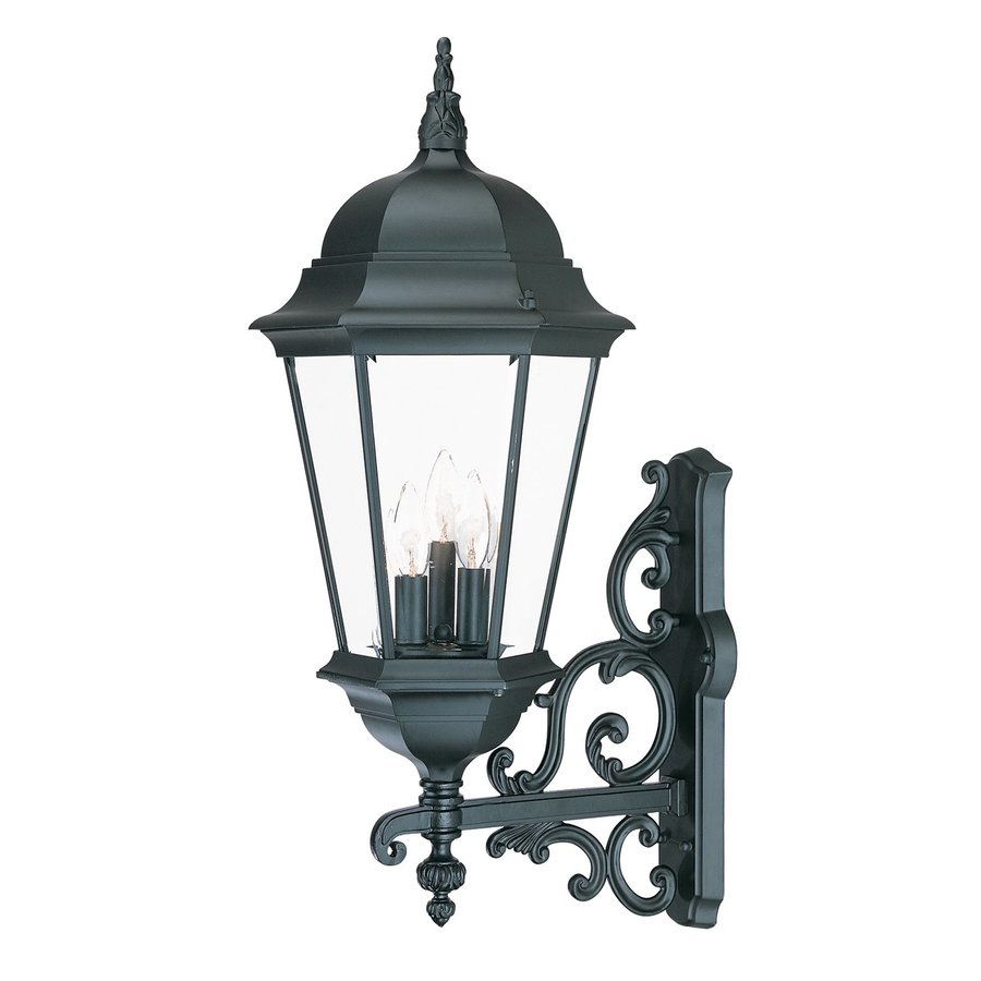 Wall Lantern Lowes : Shop Acclaim Lighting Richmond 29.25-in H Matte Black Outdoor Wall Light at Lowes.com