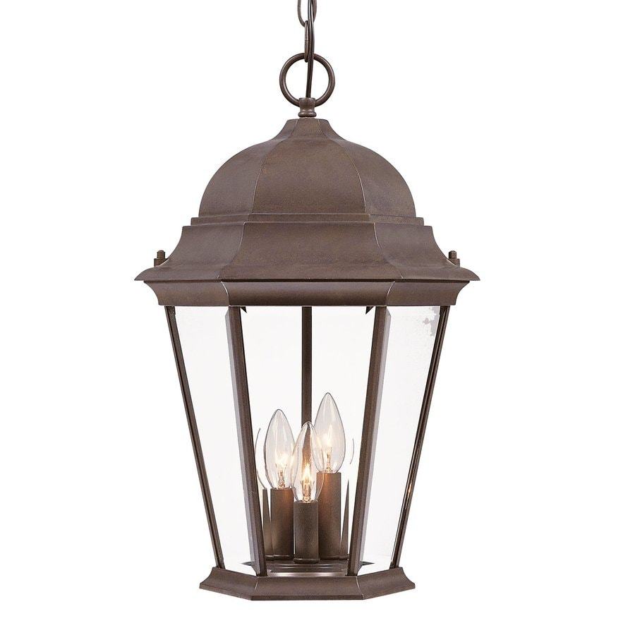 lighting richmond 18 5 in burled walnut outdoor pendant light at lowes. Black Bedroom Furniture Sets. Home Design Ideas