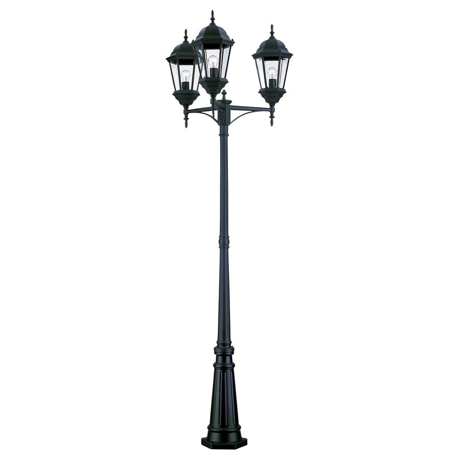 Shop Acclaim Lighting Richmond 94 In H Matte Black Post