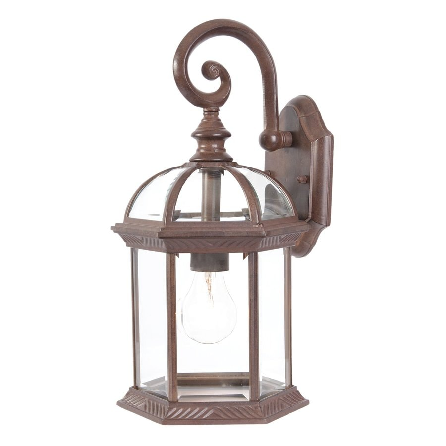 Acclaim Lighting Dover 16-in H Burled Walnut Outdoor Wall Light