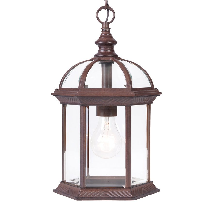 Acclaim Lighting Dover 13.75-in Burled Walnut Outdoor Pendant Light