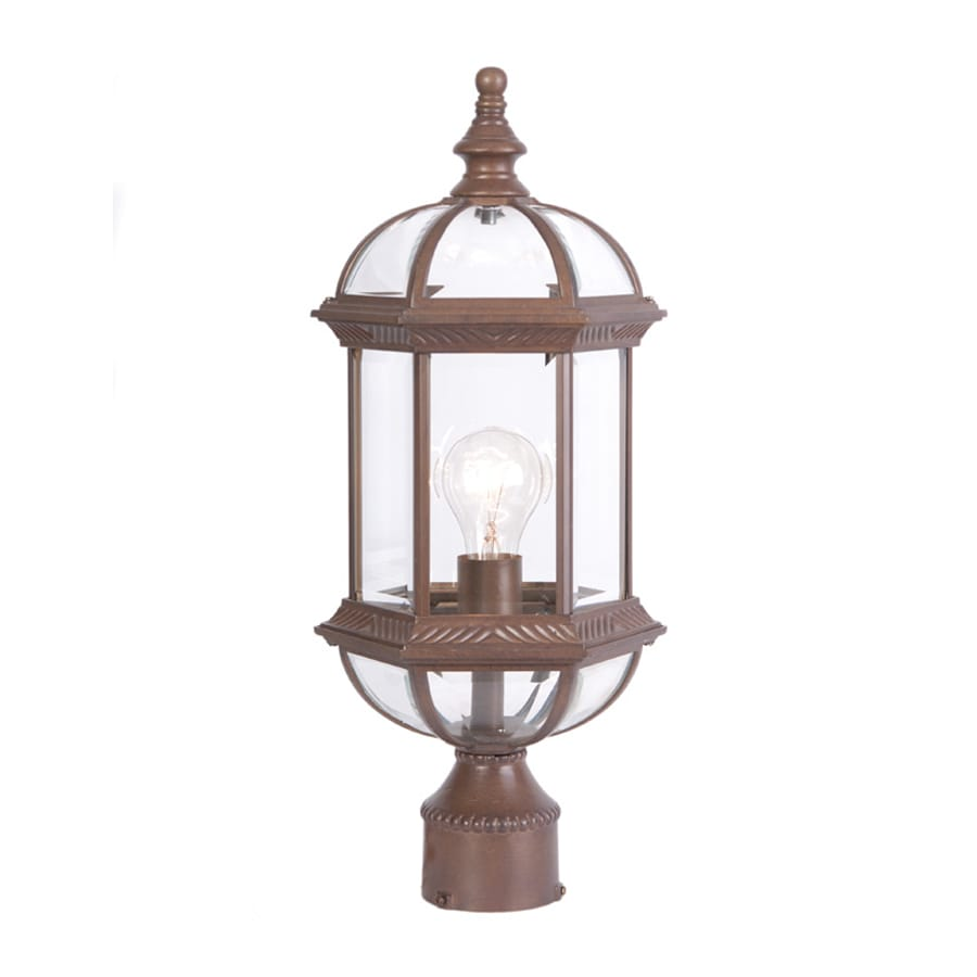 Acclaim Lighting Dover 19-in H Burled Walnut Post Light