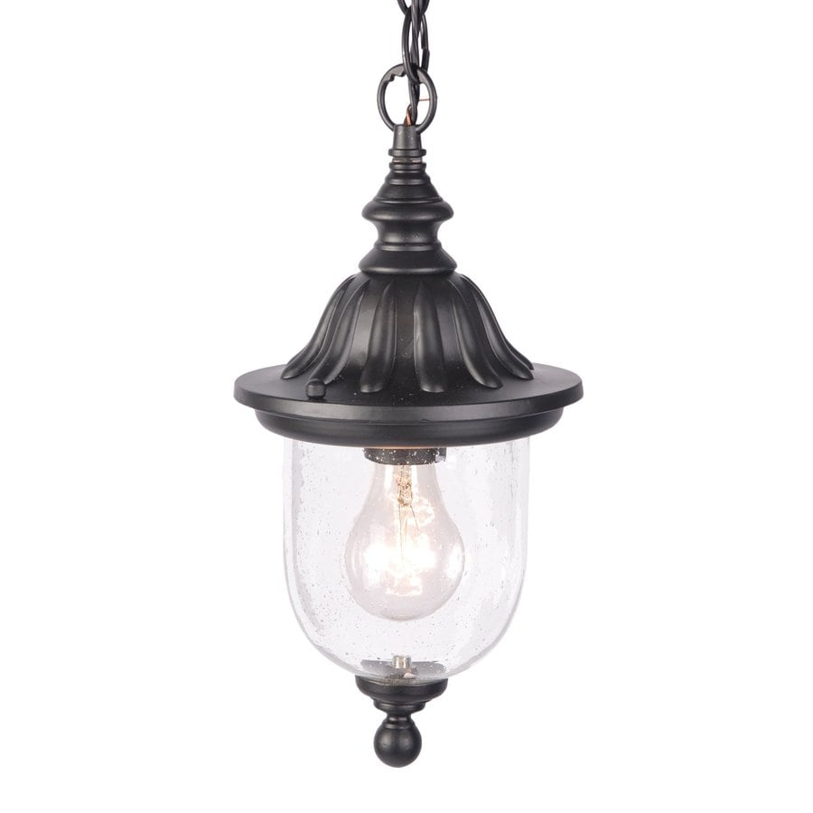 Acclaim Lighting Builder's Choice 13-in Matte Black Outdoor Pendant Light