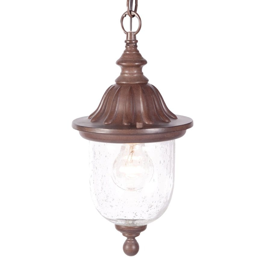 Acclaim Lighting Builder's Choice 13-in Burled Walnut Outdoor Pendant Light