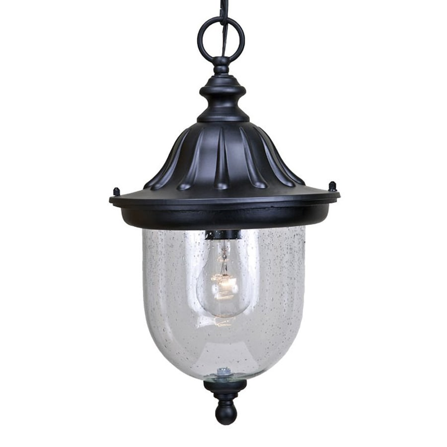 Acclaim Lighting Builder's Choice 16.5-in Matte Black Outdoor Pendant Light