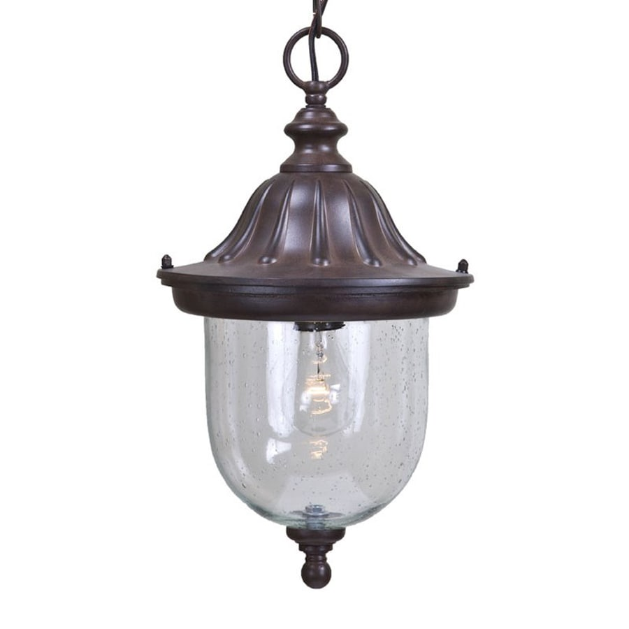 Acclaim Lighting Builder's Choice 16.5-in Burled Walnut Outdoor Pendant Light