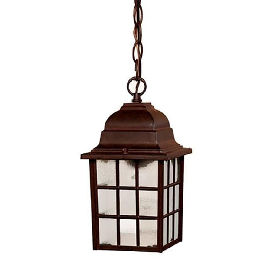 Acclaim Lighting Nautica 11-in Burled Walnut Outdoor Pendant Light