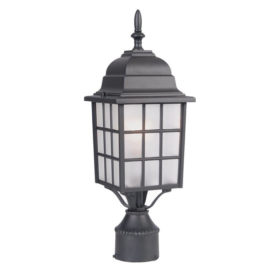 Acclaim Lighting Nautica 18-in H Matte Black Post Light