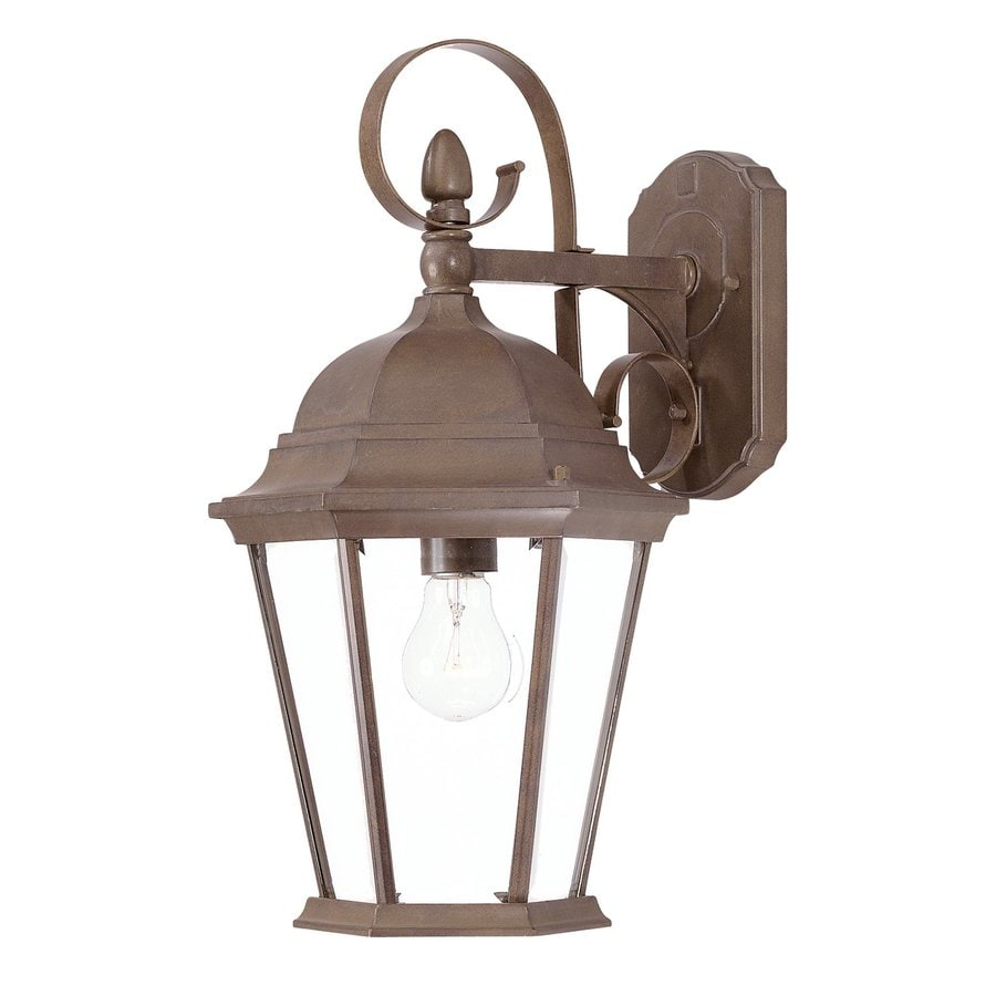 Acclaim Lighting Orleans 17.75-in H Burled Walnut Outdoor Wall Light