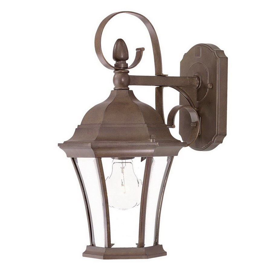 Acclaim Lighting Orleans 16-in H Burled Walnut Outdoor Wall Light