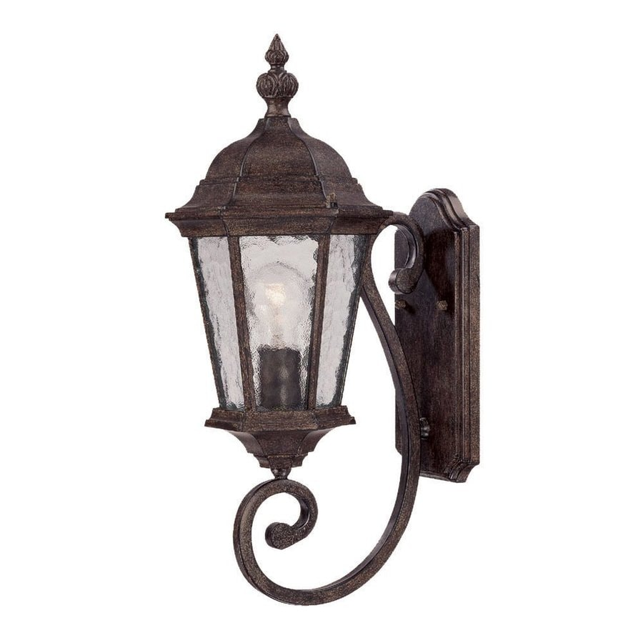 Acclaim Lighting Telfair 22-in H Black Coral Outdoor Wall Light