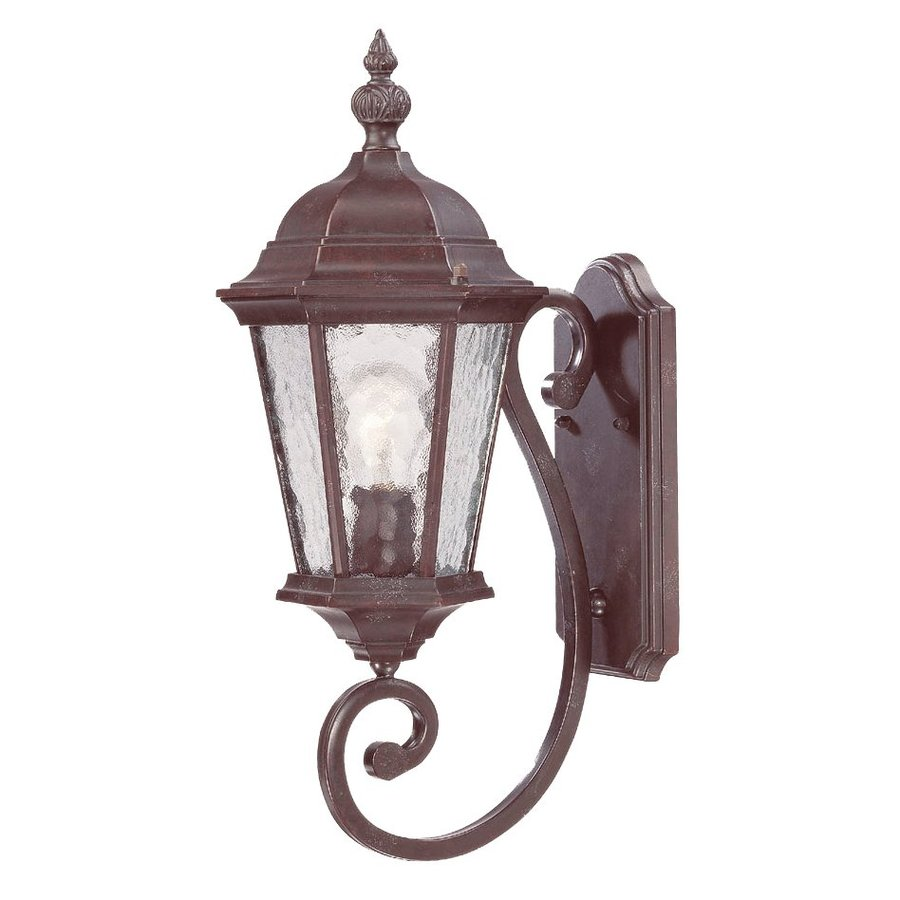 Acclaim Lighting Telfair 22-in H Marbleized Mahogany Outdoor Wall Light
