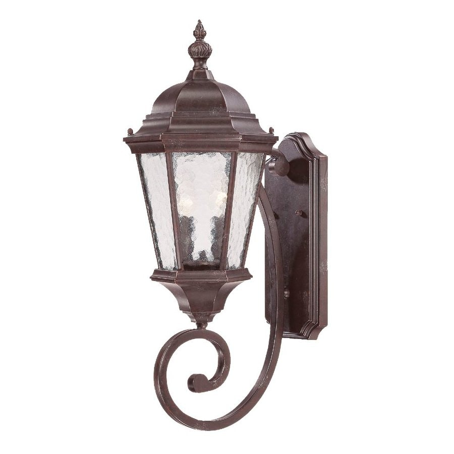 Acclaim Lighting Telfair 24.5-in H Marbleized Mahogany Outdoor Wall Light