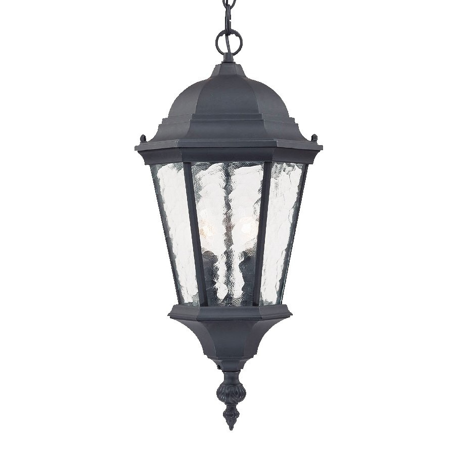 Acclaim Lighting Telfair 20-in Matte Black Outdoor Pendant Light