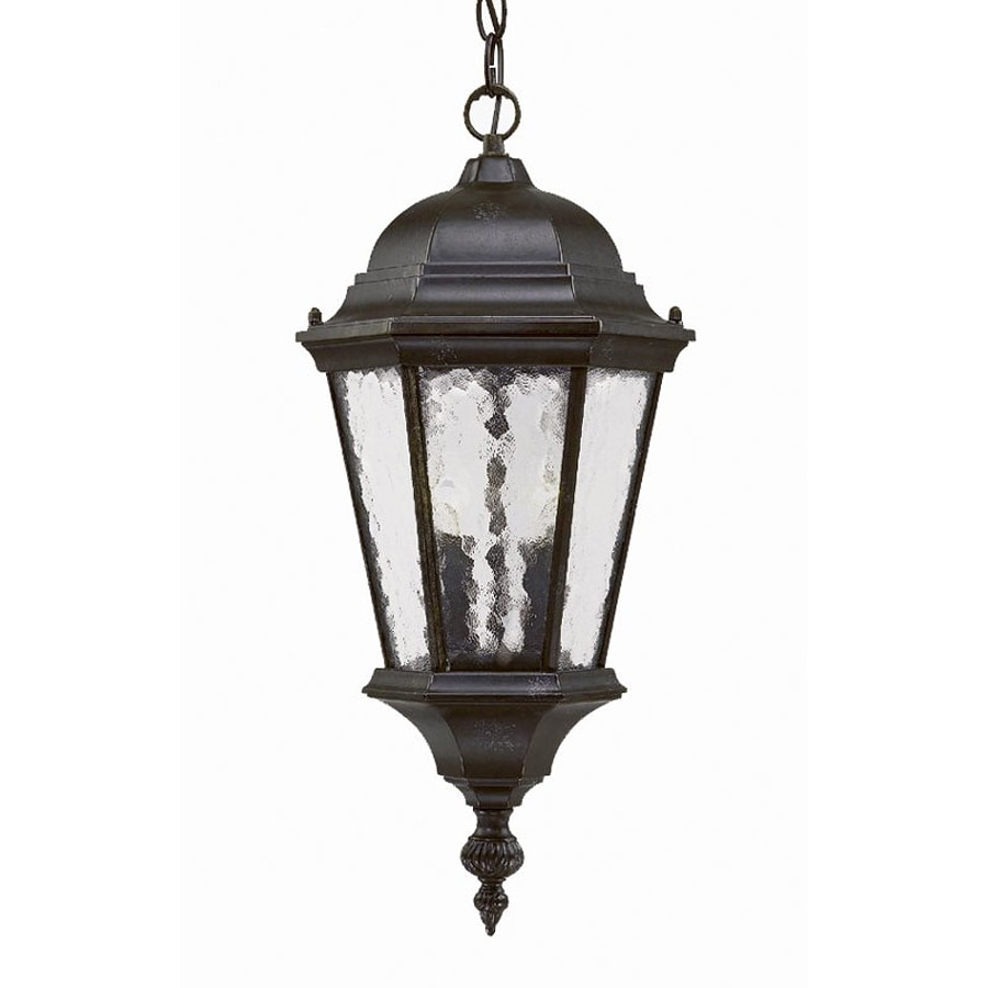 Acclaim Lighting Telfair 20-in Marbleized Mahogany Outdoor Pendant Light