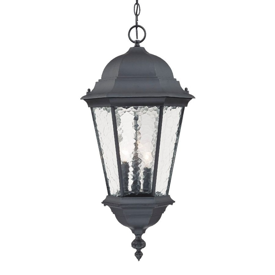 Acclaim Lighting Telfair 26-in Matte Black Outdoor Pendant Light