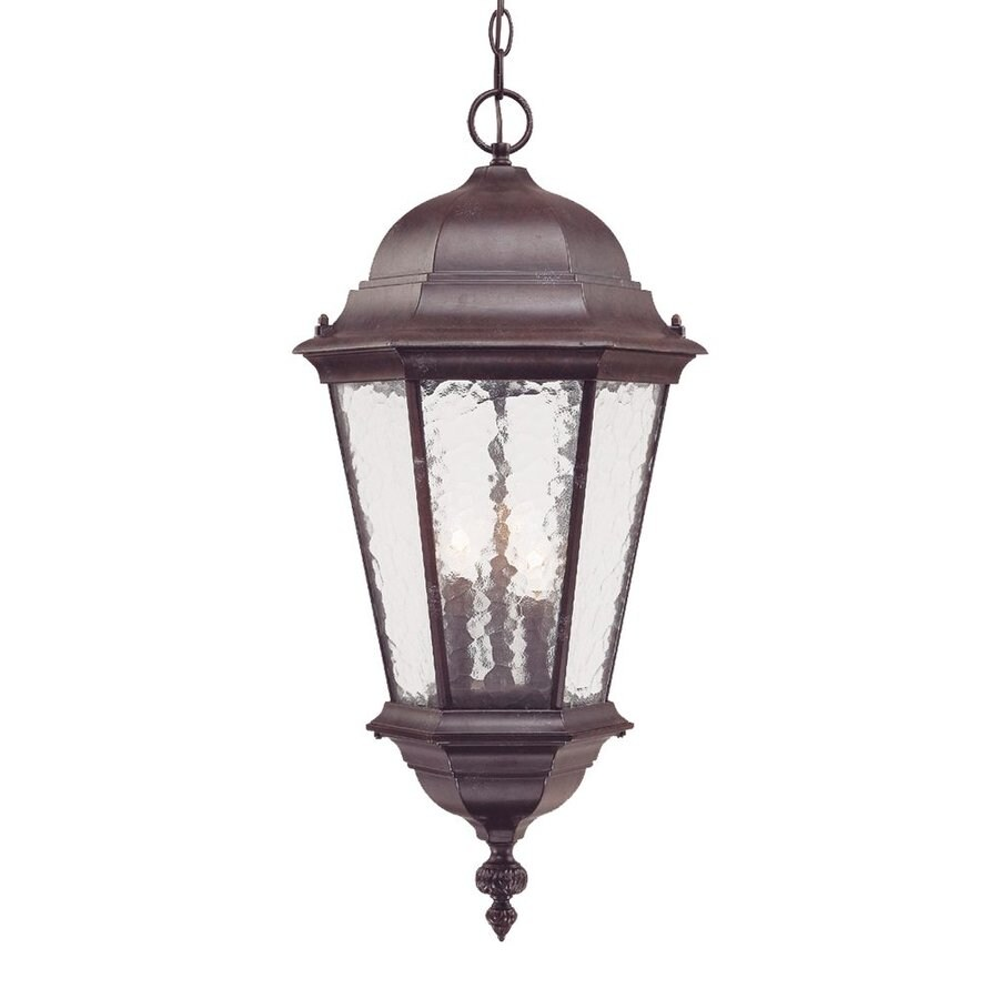 Acclaim Lighting Telfair 26-in Marbleized Mahogany Outdoor Pendant Light