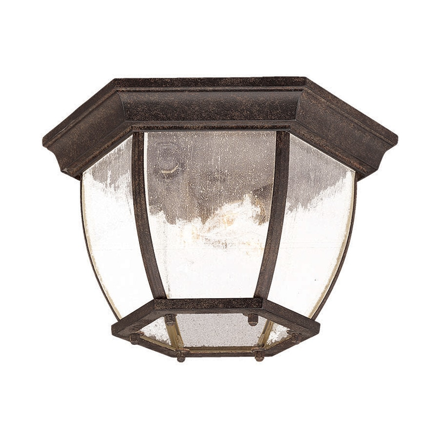 Acclaim Lighting 10.75-in W Black Coral Outdoor Flush-Mount Light