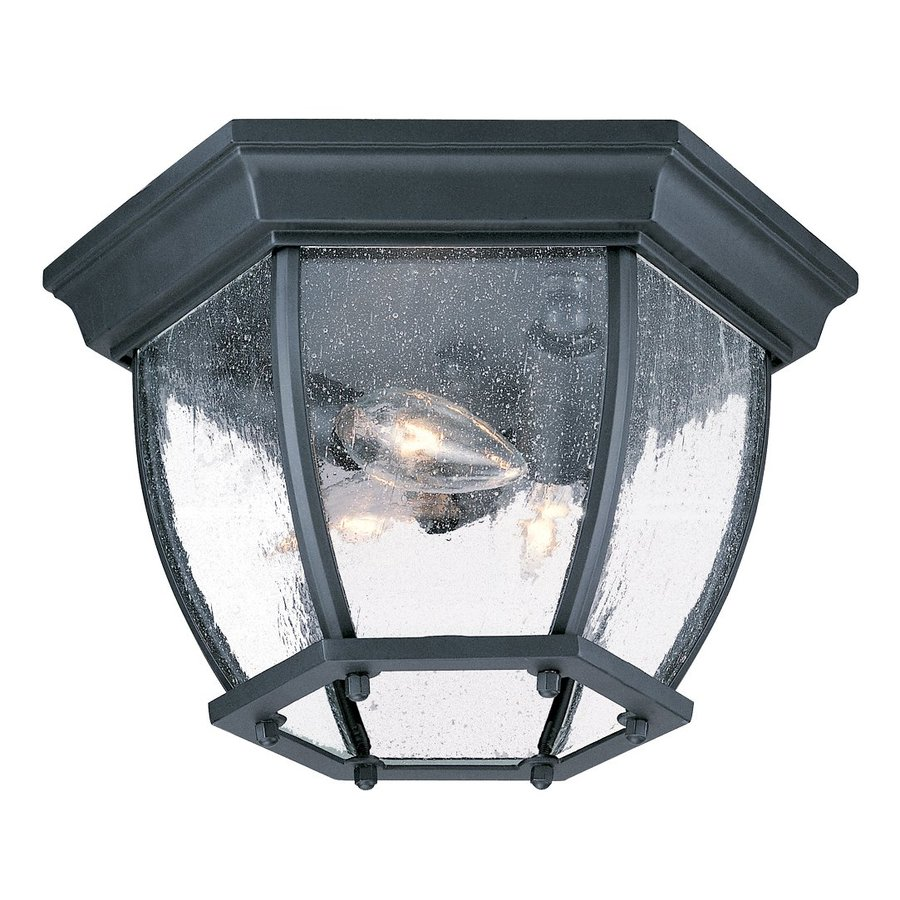 Acclaim Lighting 10.75-in W Matte Black Outdoor Flush-Mount Light