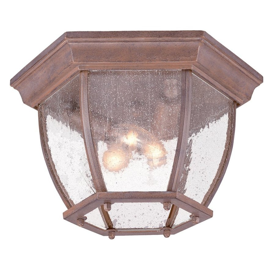 Acclaim Lighting 11-in W Burled Walnut Outdoor Flush Mount Light