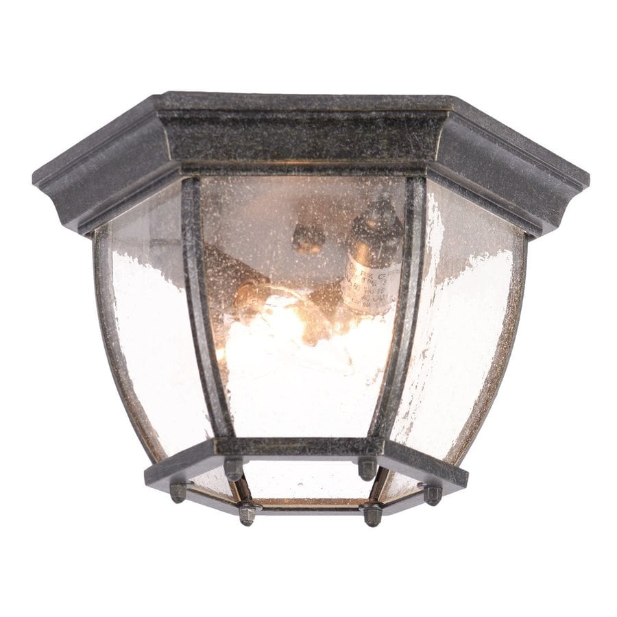 Acclaim Lighting 10.75-in W Stone Outdoor Flush-Mount Light