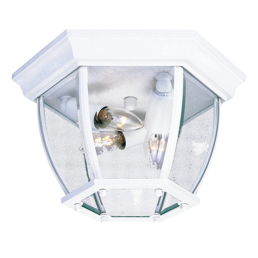 Acclaim Lighting 10.75-in W Textured White Outdoor Flush-Mount Light