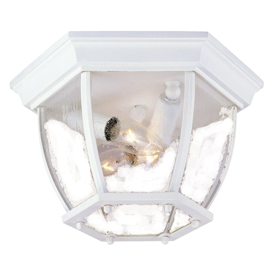 Acclaim Lighting 10.75-in W Textured White Outdoor Flush-Mount Light