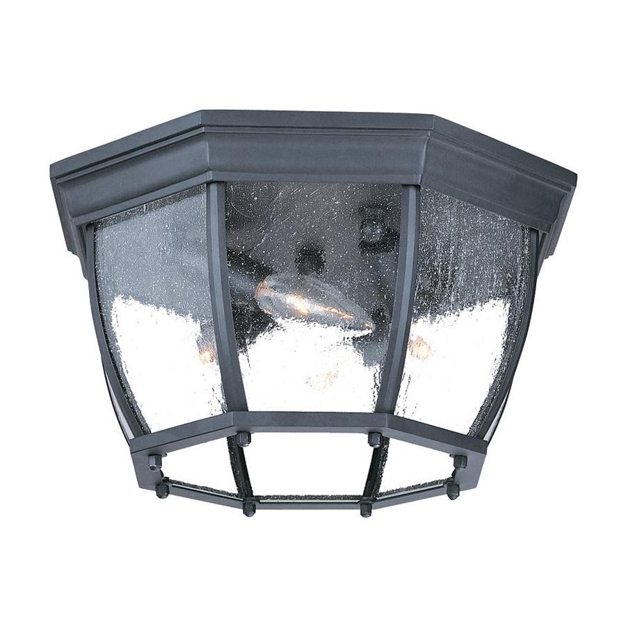 Acclaim Lighting 13-in W Matte Black Outdoor Flush Mount Light
