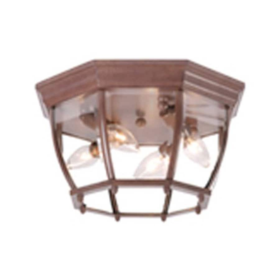 Acclaim Lighting 12.5-in W Burled Walnut Outdoor Flush-Mount Light
