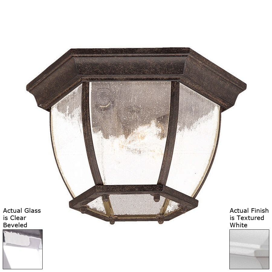 Acclaim Lighting 12.5-in W Textured White Outdoor Flush-Mount Light