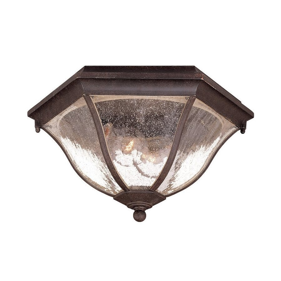 Acclaim Lighting 14.5-in W Black Coral Outdoor Flush-Mount Light