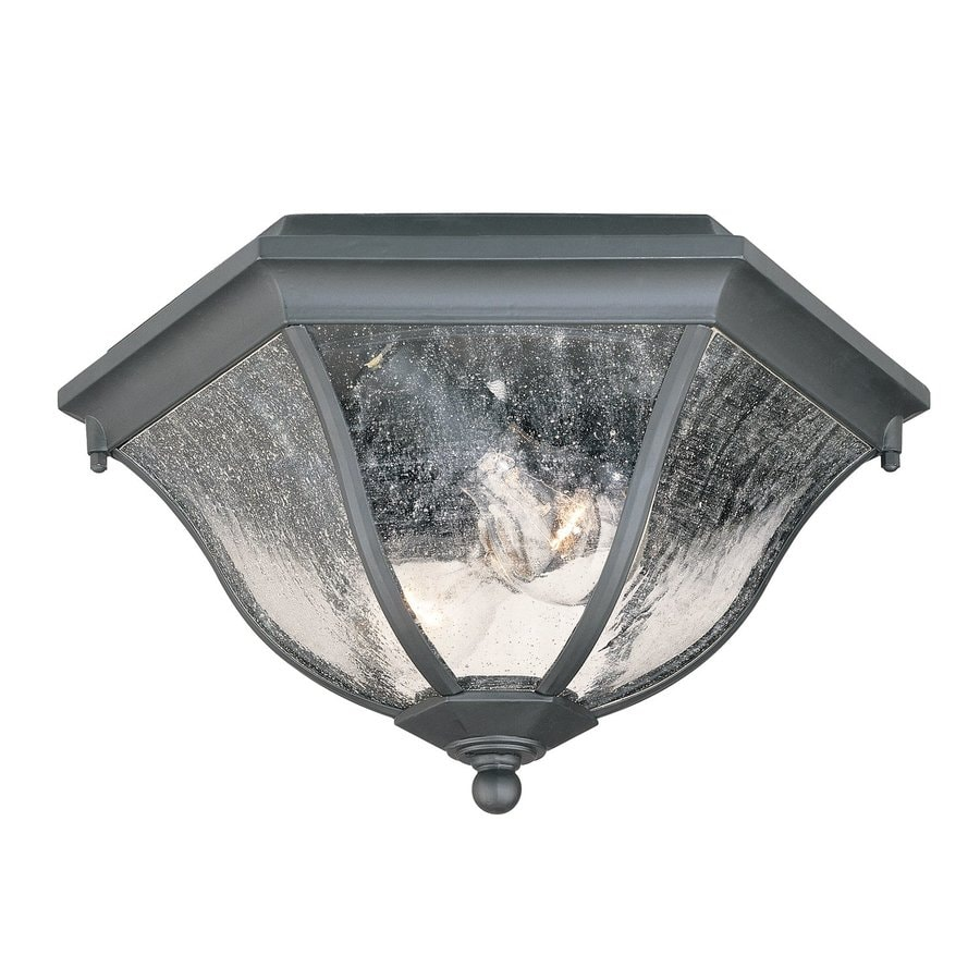 Acclaim Lighting 14.5-in W Matte Black Outdoor Flush-Mount Light