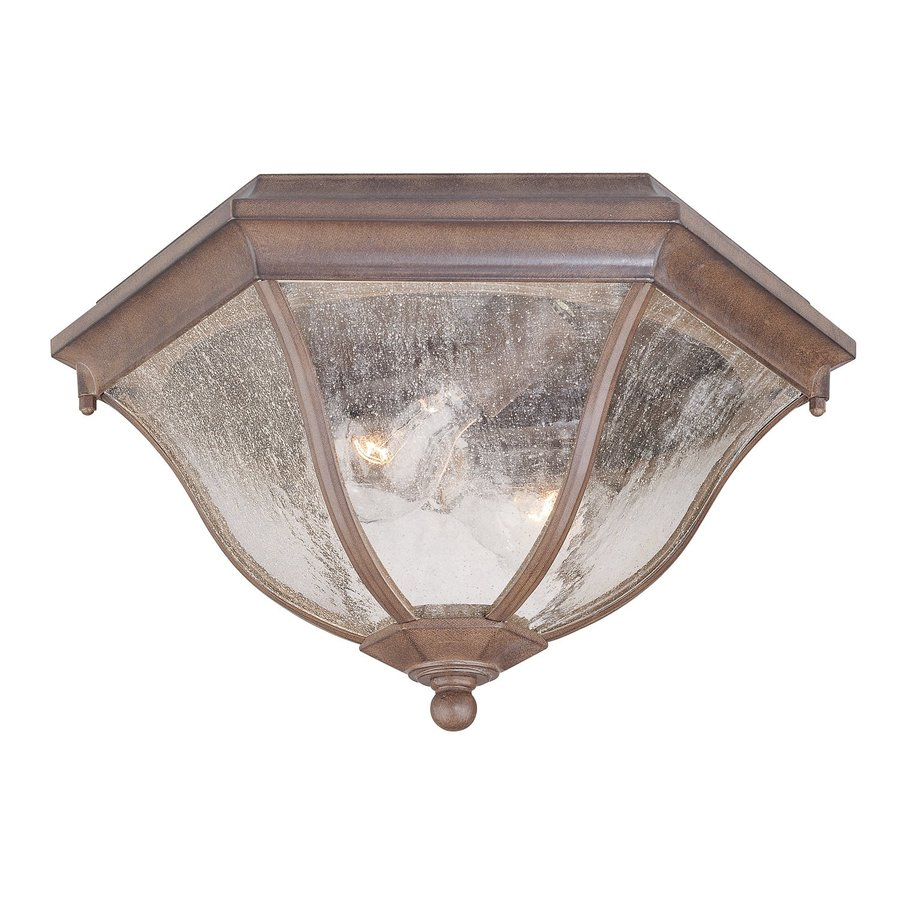 Acclaim Lighting 14.5-in W Burled Walnut Outdoor Flush-Mount Light