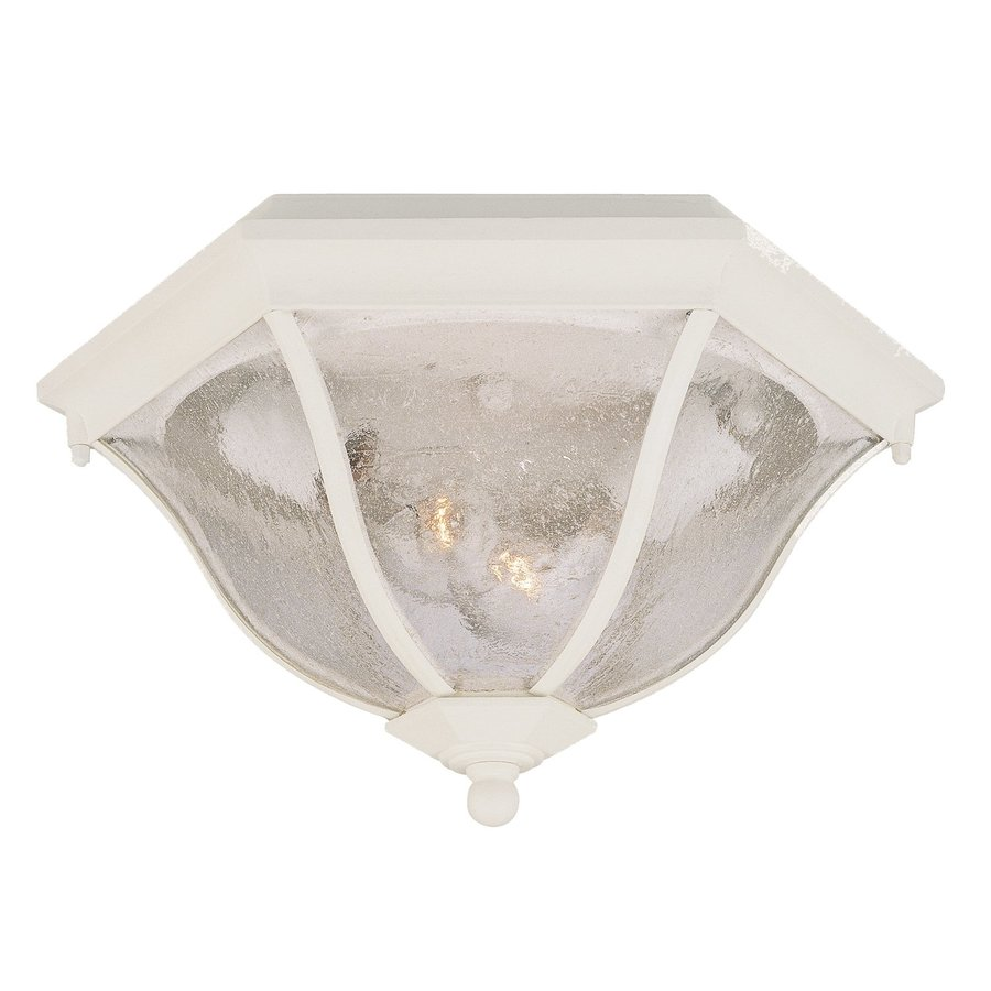 Acclaim Lighting 14.5-in W Textured White Outdoor Flush-Mount Light