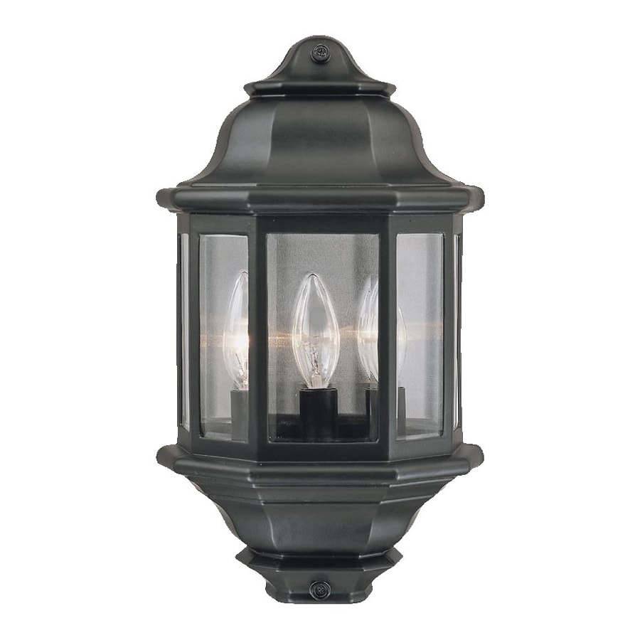 Exterior Wall Lights Lowes : Shop Acclaim Lighting 15-in H Matte Black Outdoor Wall Light at Lowes.com