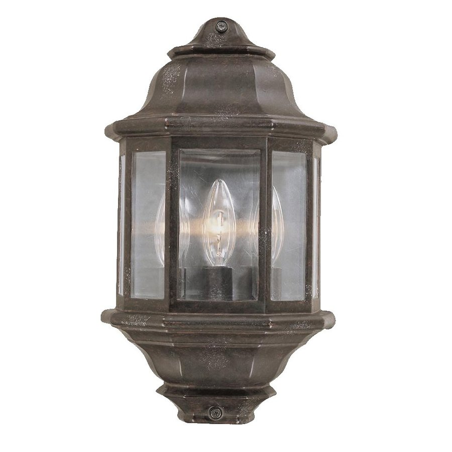 Acclaim Lighting 15-in H Marbleized Mahogany Outdoor Wall Light