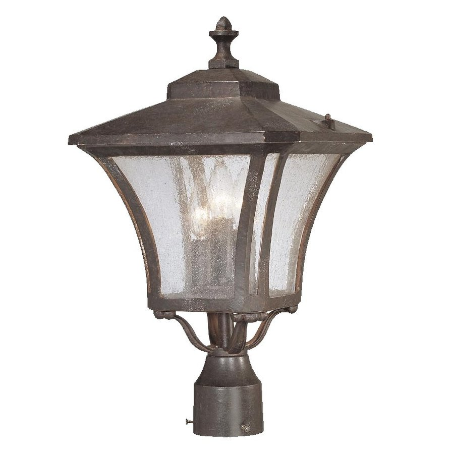 Acclaim Lighting Tuscan 19.5-in H Marbleized Mahogany Post Light