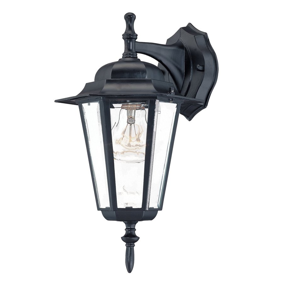 Acclaim Lighting Camelot 14.5-in H Matte Black Outdoor Wall Light