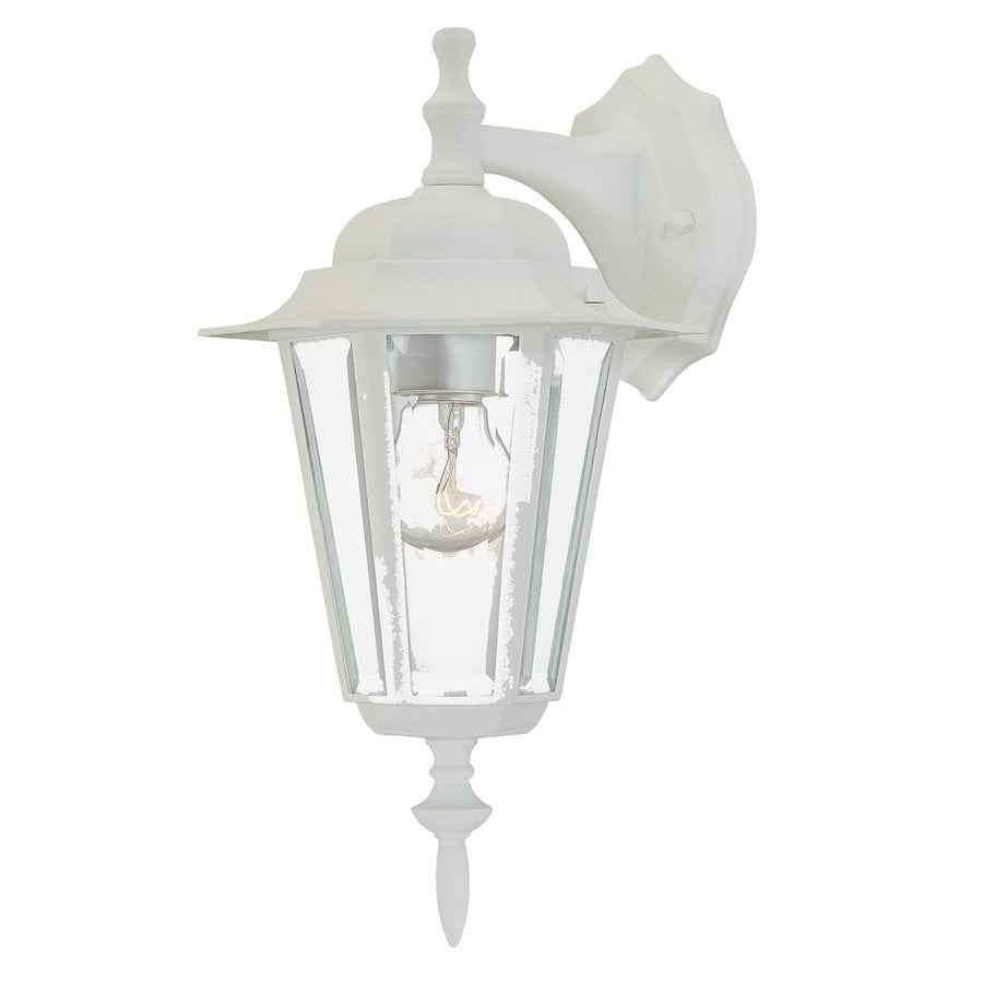 Acclaim Lighting Camelot 14.5-in H Textured White Outdoor Wall Light
