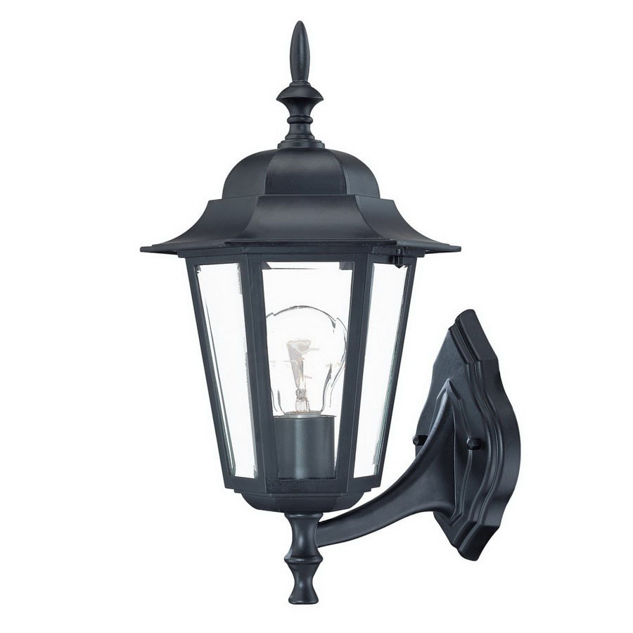 Acclaim Lighting Camelot 15.5-in H Matte Black Outdoor Wall Light