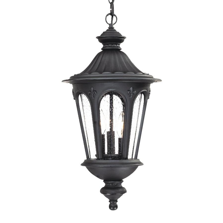 Acclaim Lighting Telfair Black C Tiffany Style Lantern Incandescent Outdoor Pendant