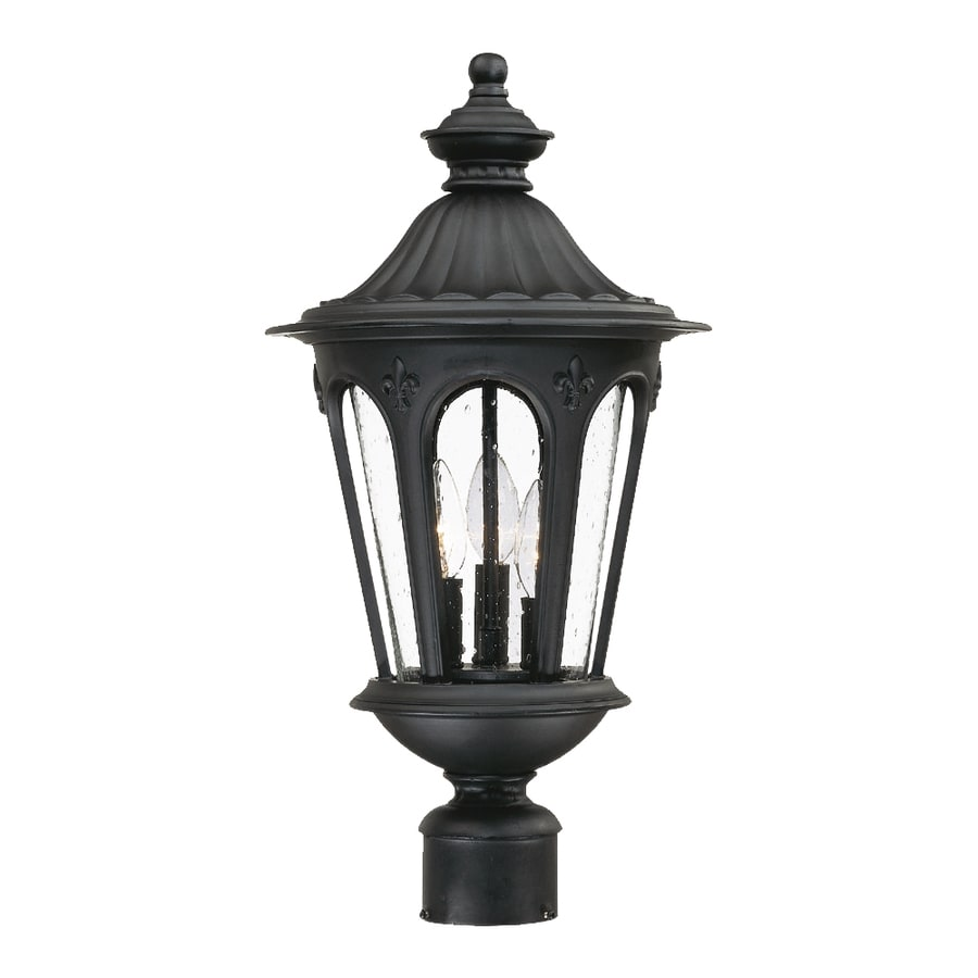 Acclaim Lighting Marietta 21.5-in H Matte Black Post Light