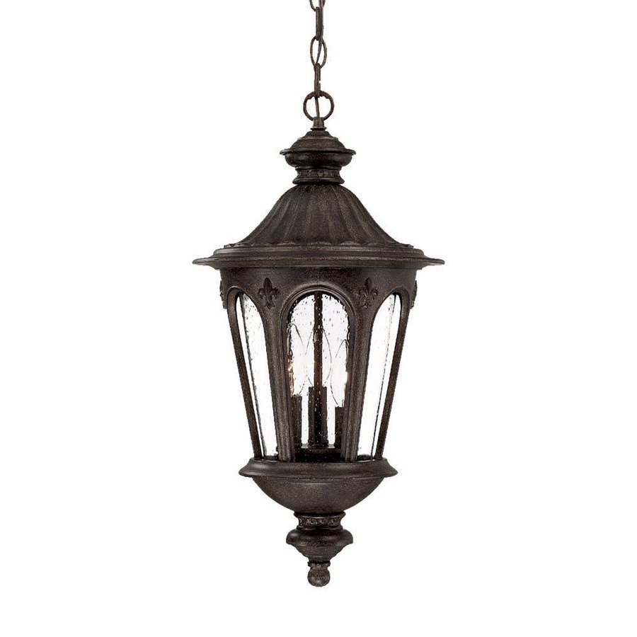 Acclaim Lighting Marietta 27-in Black Coral Outdoor Pendant Light