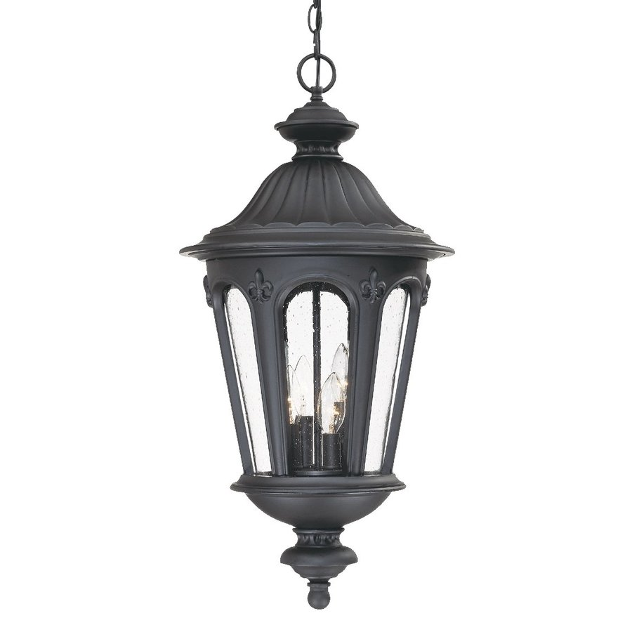 Acclaim Lighting Marietta 27-in H Black Outdoor Pendant Light