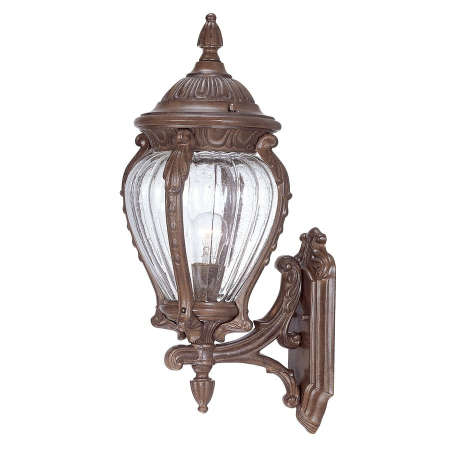 Acclaim Lighting Nottingham 20.75-in H Burled Walnut Outdoor Wall Light
