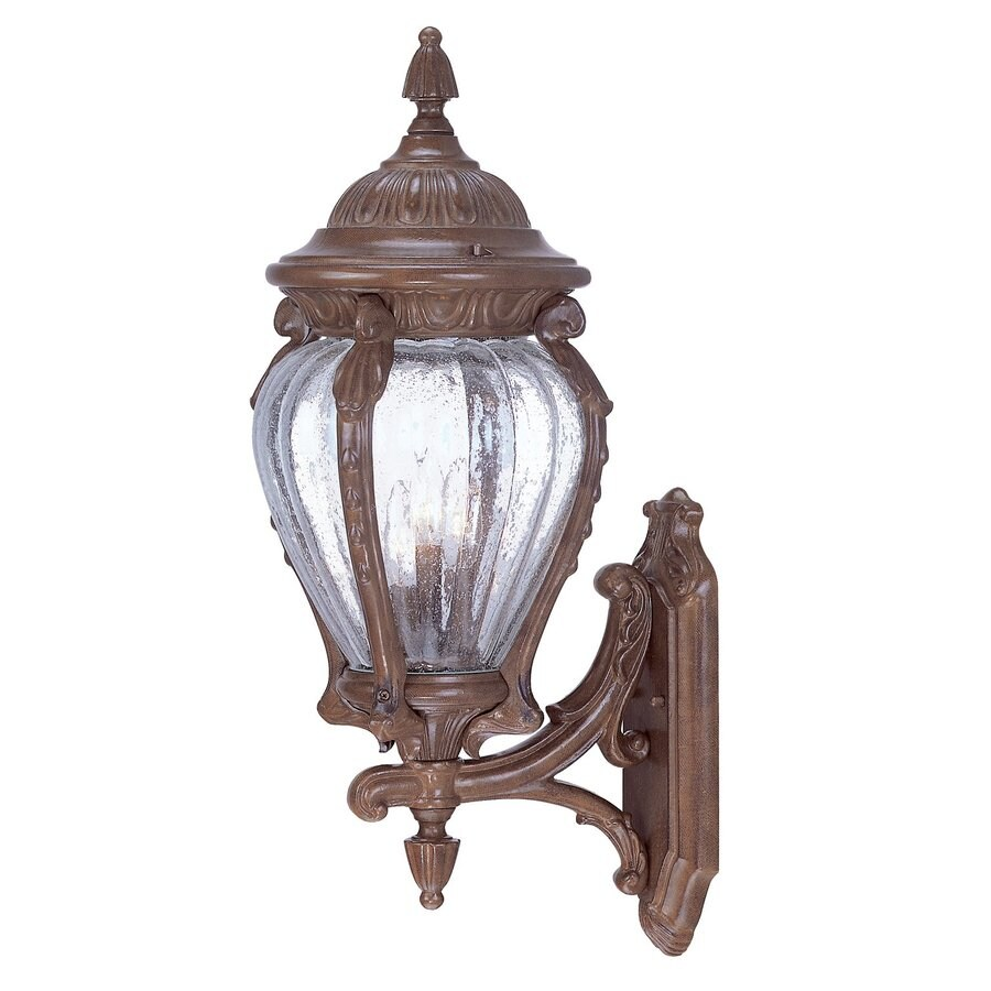 Acclaim Lighting Nottingham 25-in H Burled Walnut Outdoor Wall Light