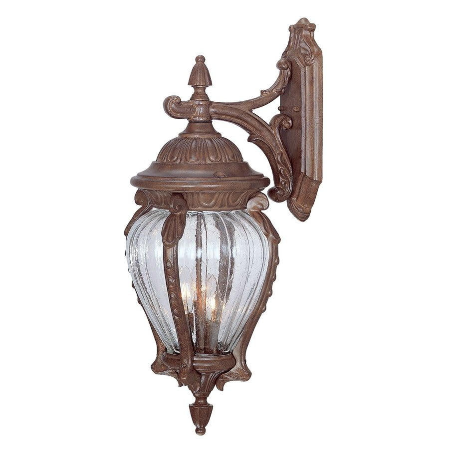 Acclaim Lighting Nottingham 26-in H Burled Walnut Outdoor Wall Light