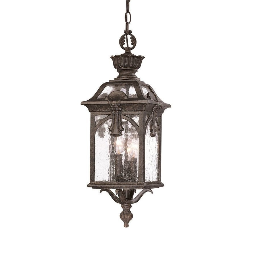 Acclaim Lighting Belmont 23-in Black Coral Outdoor Pendant Light